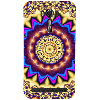 ifasho Animated Pattern design colorful flower in royal style Back Case Cover for Asus Zenfone 2 Laser ZE601KL