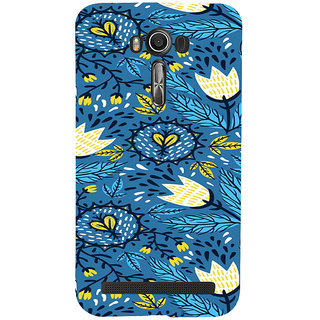 ifasho Animated Pattern colrful design flower with leaves Back Case Cover for Asus Zenfone 2 Laser ZE601KL
