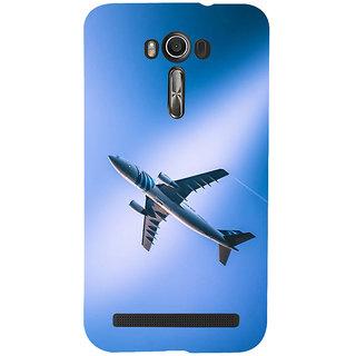 ifasho aeroPlane flying in blue sky Back Case Cover for Asus Zenfone 2 Laser ZE601KL