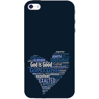 ifasho Quotes on God inside a heart Back Case Cover for Apple iPhone 5
