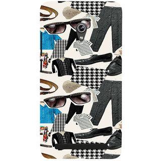ifasho Modern Art Design Pattern man dress shoes spec belt Back Case Cover for Asus Zenfone 6
