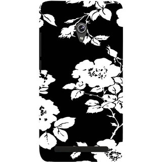 ifasho Animated Pattern rose flower with leaves Back Case Cover for Asus Zenfone 5