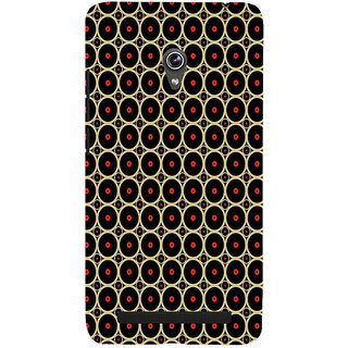 ifasho Animation Clourful Circle on black background Pattern Back Case Cover for Asus Zenfone 6