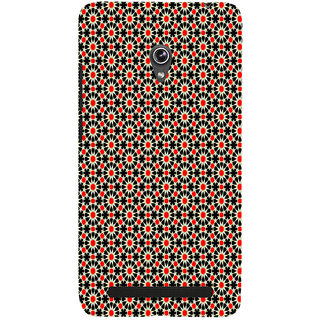 ifasho Animated Pattern design black and red flower in white background Back Case Cover for Asus Zenfone 5