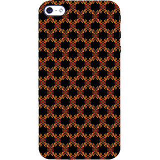 ifasho Animated Pattern design colorful flower in black background Back Case Cover for Apple iPhone 5