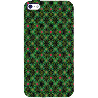 ifasho Pattern green red and black flower design Back Case Cover for Apple iPhone 5
