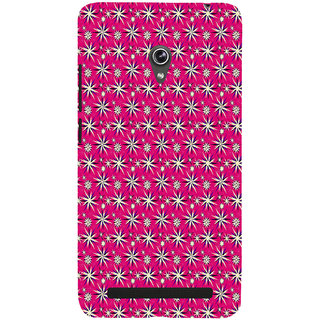 ifasho Pattern green white and red animated flower design Back Case Cover for Asus Zenfone 5