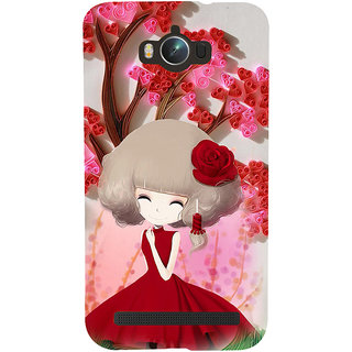 ifasho Girl  with Flower in Hair Back Case Cover for Asus Zenfone Max