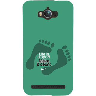 ifasho life Quotes sports quotes Back Case Cover for Asus Zenfone Max