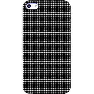 ifasho Animated Pattern  equal size Circle black and white Back Case Cover for Apple iPhone 5