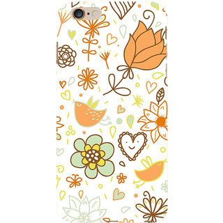 ifasho Animated Pattern colrful design cartoon flower with leaves Back Case Cover for Apple iPhone 6S Plus