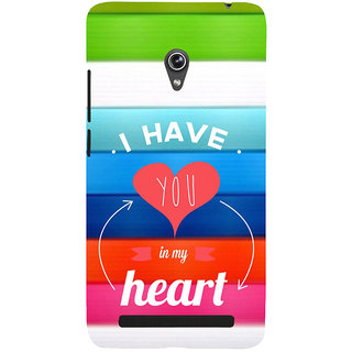 ifasho I have you in my heart Back Case Cover for Asus Zenfone 6