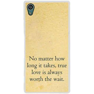 ifasho True love quotes Back Case Cover for Sony Xperia Z5