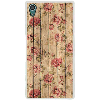 ifasho Modern Art Design painted flower on wood Back Case Cover for Sony Xperia Z5