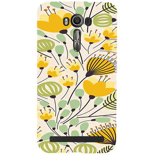 ifasho Animated Pattern colrful flower with leaves Back Case Cover for Asus Zenfone 2 Laser ZE601KL