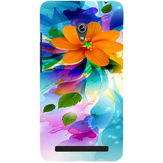 ifasho Flower Design multi color Back Case Cover for Asus Zenfone 5