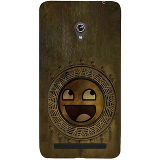 ifasho Smilee on wood Back Case Cover for Asus Zenfone 6