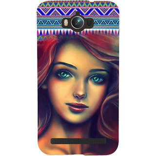 ifasho Gorgeous Winking Girl Back Case Cover for Asus Zenfone Max
