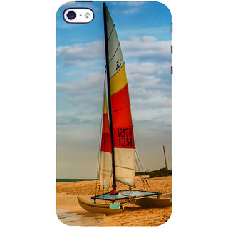 ifasho Boat in a beach Back Case Cover for Apple iPhone 5