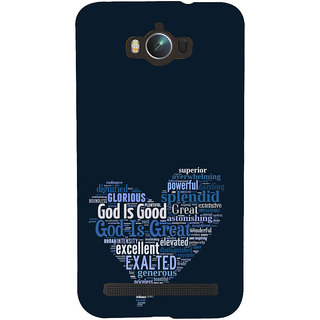 ifasho Quotes on God inside a heart Back Case Cover for Asus Zenfone Max