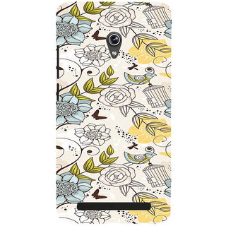 ifasho Animated Pattern colrful design flower and cage and birds Back Case Cover for Asus Zenfone 6