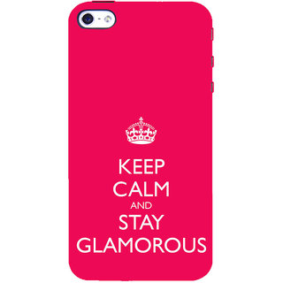ifasho Nice Quote On Keep Calm Back Case Cover for Apple iPhone 5