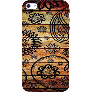 ifasho Animated Royal Pattern with Wooden back ground Back Case Cover for Apple iPhone 5