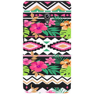 ifasho Animated Pattern colrful design flower with 3Daditional design Back Case Cover for Asus Zenfone 6