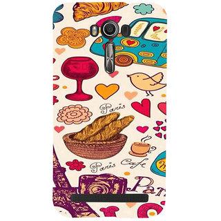 ifasho Modern Art Design Pattern car food tower bird Back Case Cover for Asus Zenfone 2 Laser ZE601KL