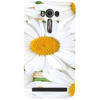 ifasho Pattern white flower Back Case Cover for Asus Zenfone 2 Laser ZE601KL