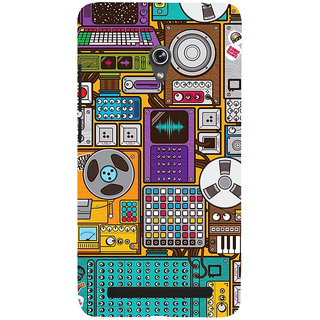 ifasho Animated Pattern design music recording cartoons tape  Back Case Cover for Asus Zenfone 6