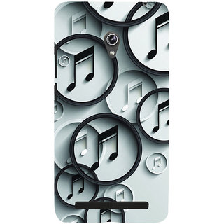 ifasho Modern Art Design Pattern Music symbol Back Case Cover for Asus Zenfone 6