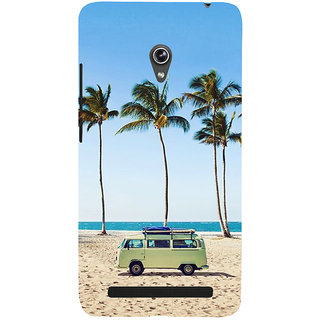 ifasho Bus on a beach Back Case Cover for Asus Zenfone 6
