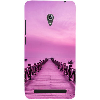 ifasho walking wooden bridge on a sea Back Case Cover for Asus Zenfone 6