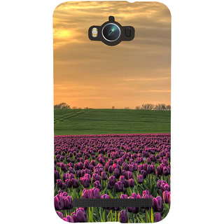 ifasho green Grass and purple flower at sunset Back Case Cover for Asus Zenfone Max