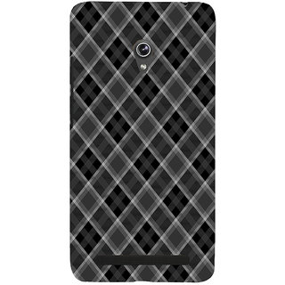ifasho Design lines pattern and square pattern Back Case Cover for Asus Zenfone 6