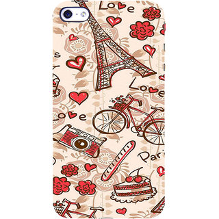 ifasho Modern Art Design Pattern Bicycle camera cake tower Back Case Cover for Apple iPhone 5