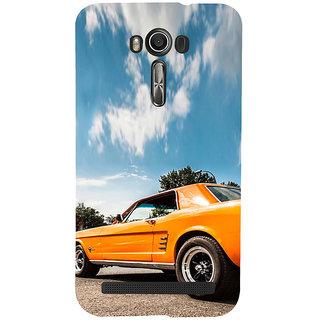 ifasho Orange colour Car Back Case Cover for Asus Zenfone 2 Laser ZE601KL