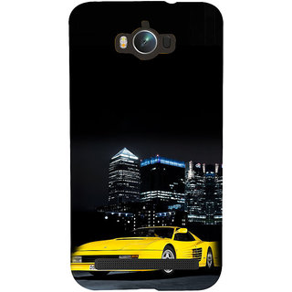 ifasho Stylish Yellow Car Back Case Cover for Asus Zenfone Max