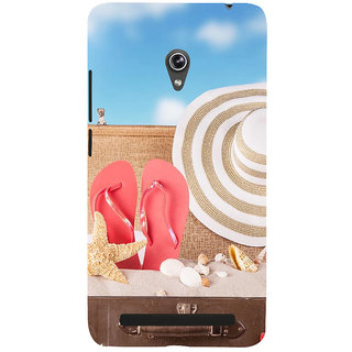 ifasho hat and chappal at a boat in Beach  Back Case Cover for Asus Zenfone 6