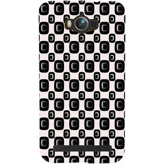 ifasho Modern Theme of black and white Squre and dots pattern Back Case Cover for Asus Zenfone Max
