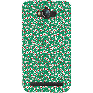 ifasho Pattern green white and red animated flower design Back Case Cover for Asus Zenfone Max