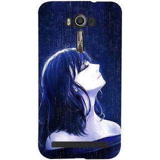 ifasho Girl in rain Back Case Cover for Asus Zenfone 2 Laser ZE601KL