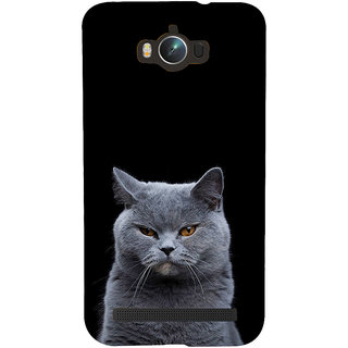 ifasho black Cat Back Case Cover for Asus Zenfone Max