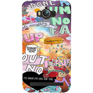 ifasho animated Modern Art Design Pattern dog love food quotes Back Case Cover for Asus Zenfone Max