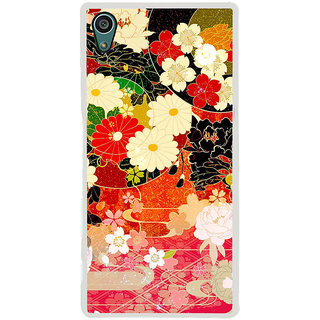 ifasho Animated Pattern flower with leaves Back Case Cover for Sony Xperia Z5