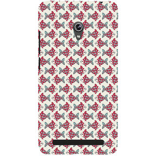 ifasho Modern Art Design Pattern Lot of fish Back Case Cover for Asus Zenfone 6