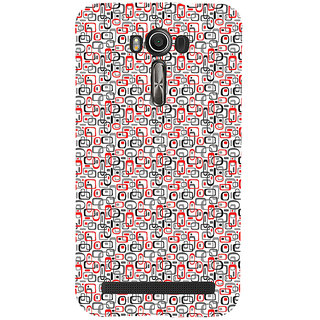 ifasho Modern Theme of colorful Squre inside square and dots Back Case Cover for Asus Zenfone 2 Laser ZE601KL