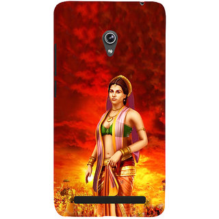 ifasho Draupadi Mahabharat Back Case Cover for Asus Zenfone 6