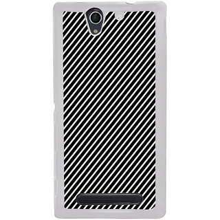 ifasho Design lines pattern Back Case Cover for Sony Xperia C4